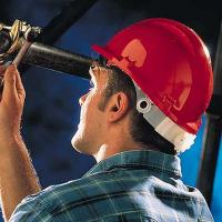 Reduced Peak Roofer Safety Helmet