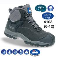 Fully Waterproof Black Nubuck Metal Free Safety Hiker Boot 4103