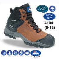 Fully Waterproof Brown Nubuck Metal Free Safety Hiker Boot 4104