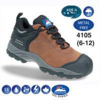 Fully Waterproof Brown Nubuck Metal Free Safety Trainer 4105
