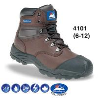 Brown Leather Hiker Safety Boot S1P 4101