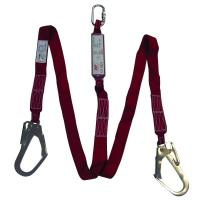 Vertex 8110 & 8111 Fall Protection  Shock Absorbing Twin Forked Webbing Lanyard